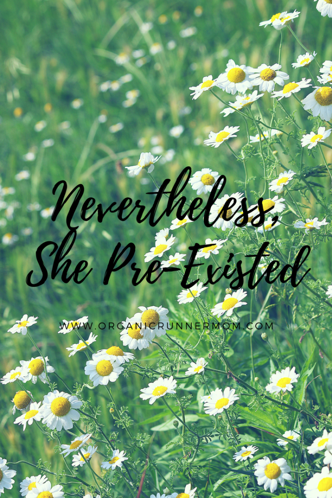 Nevertheless, She Pre-Existed