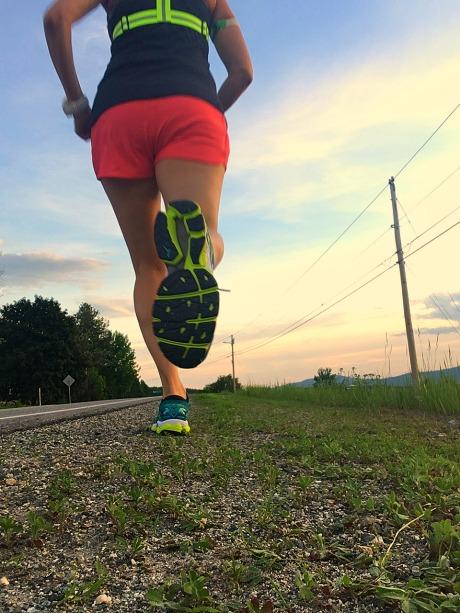 Running at sunset!