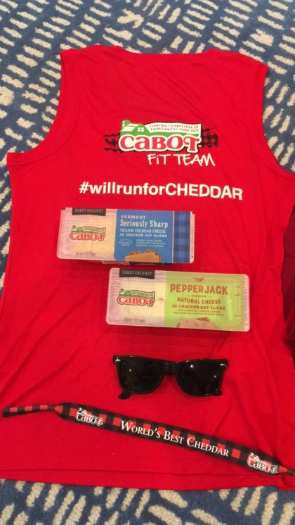 Cabot Fit Team Runner #WillRunForCHEDDAR