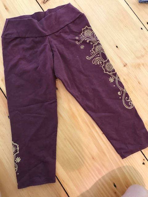 Mardi Gras Cropped Leggings from Soul Flower. Perfect for Yoga!