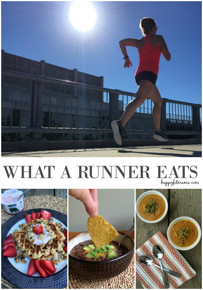 What a runner eats.