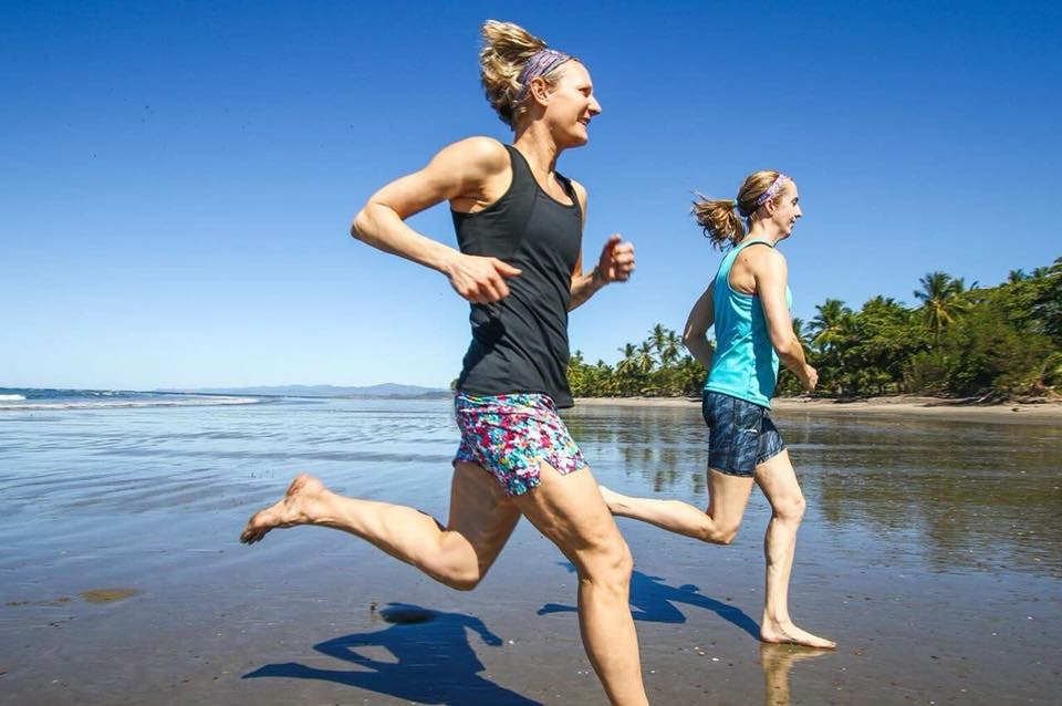 Running on the beach in Costa Rica with Nicole DeBoom of Skirt Sports