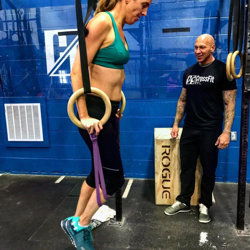 Ring Dips at CrossFit