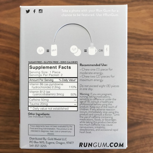 What's in Run Gum?