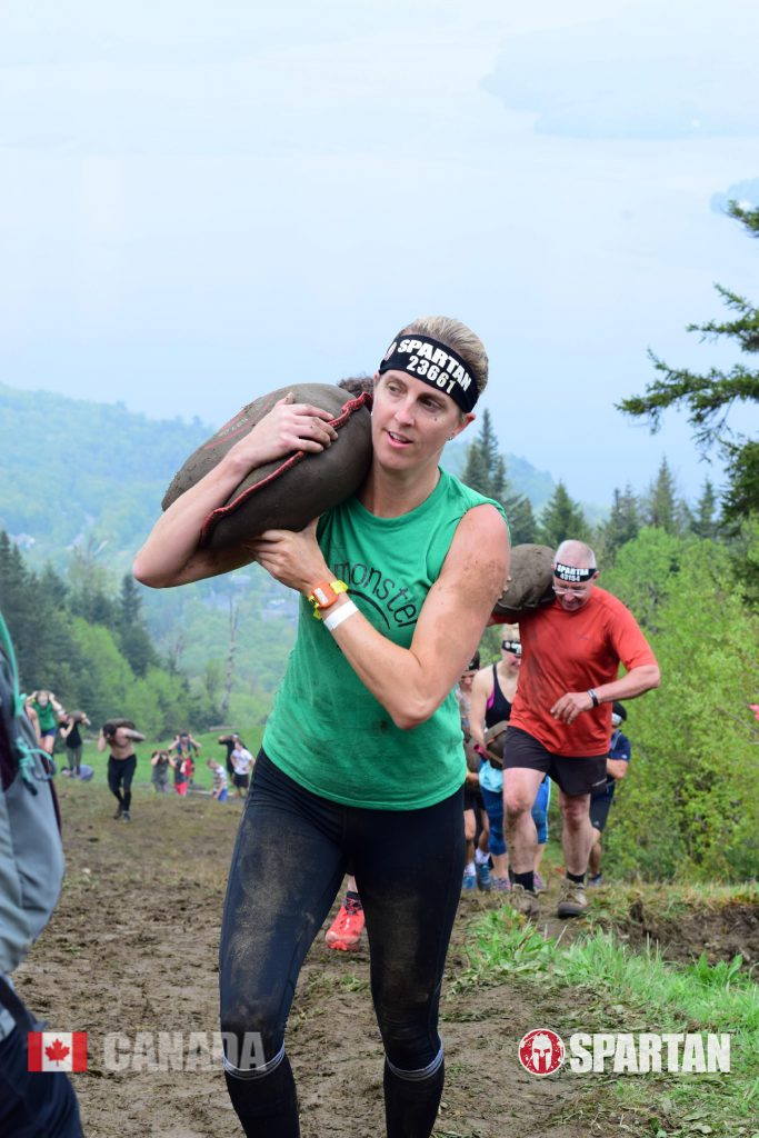 Sandbag carry at the Spartan Sprint