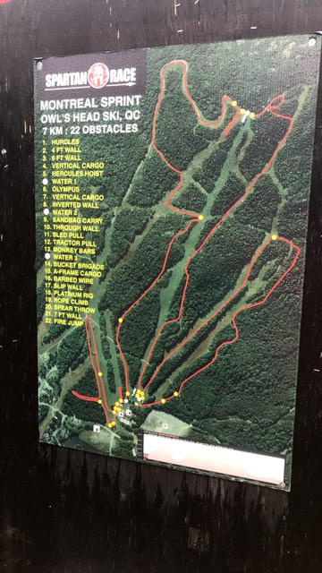 The race course and obstacles!