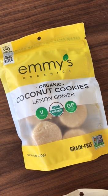 Emmy's Organic Coconut Cookies Lemon Ginger