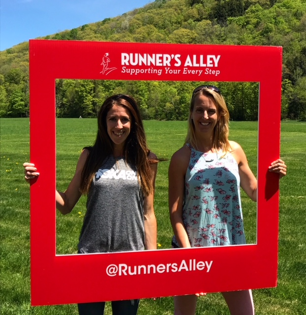 Hanging out with elite runner Steph Rothstein Bruce. Thank you Runner's Alley