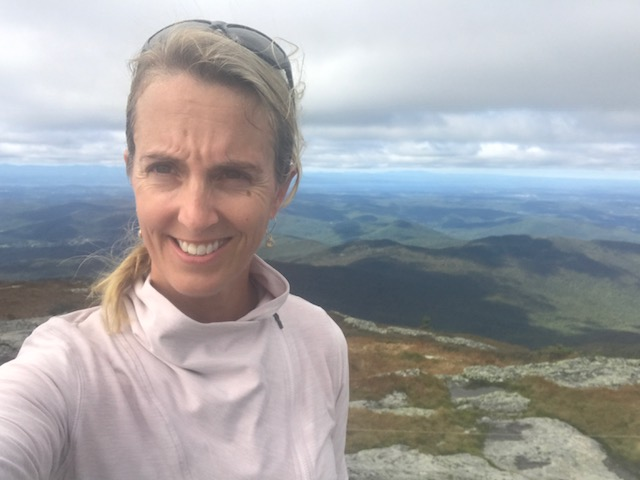 On top of Camel's Hump in Vermont