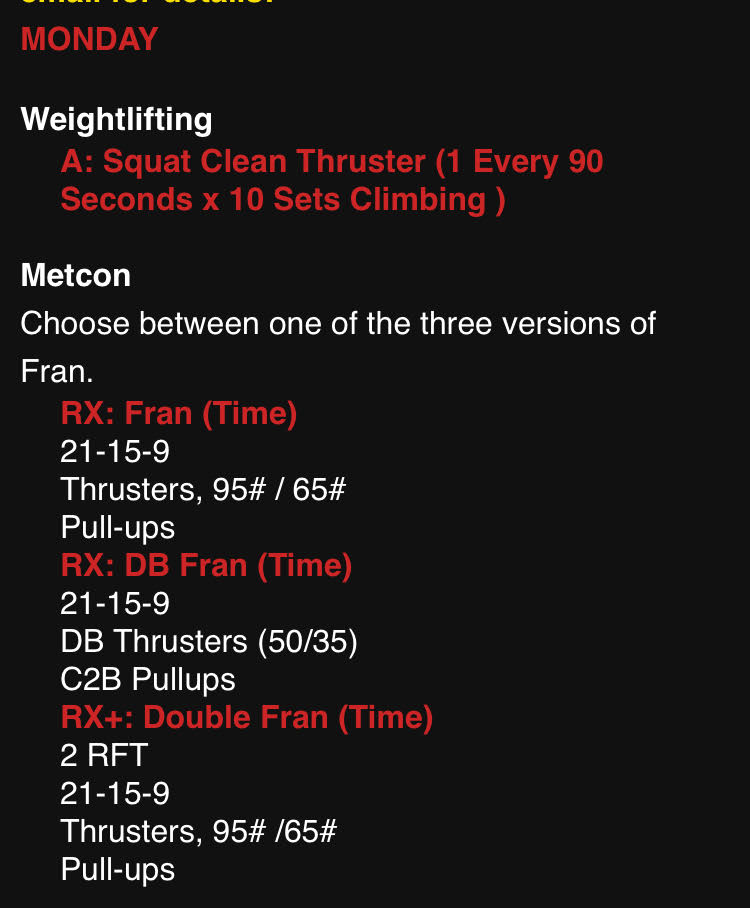 CrossFit Workout 9/10/18