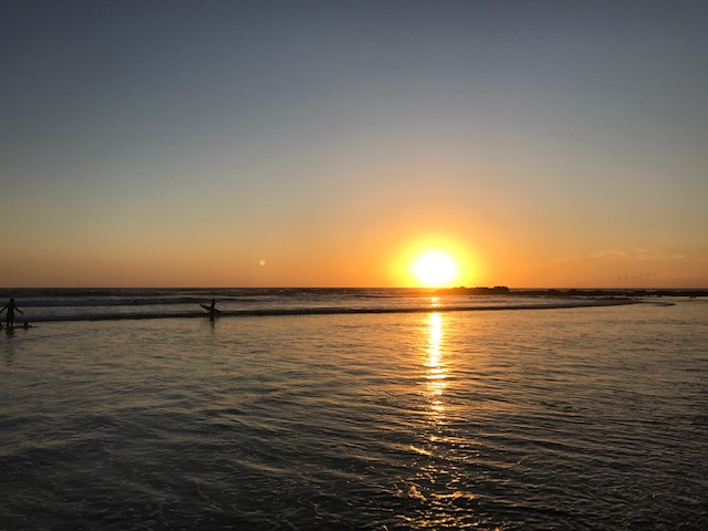Sunset over Playa Hermosa