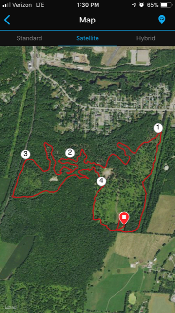 All Out Trail Run Race Course. Tail Running.