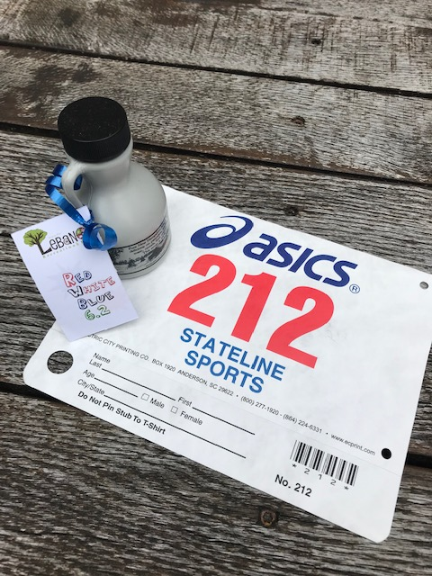 Red, White, and Blue 10K Race Bib and Maple Syrup
