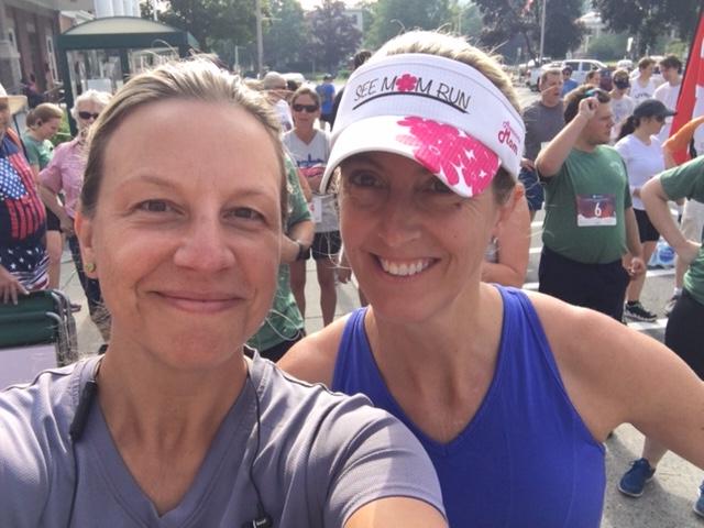 Pre-10K race Selfie with Kristen