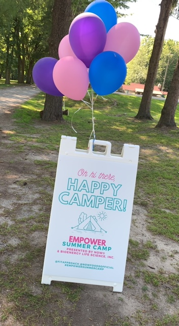 Happy Camper at Empower Summer Camp