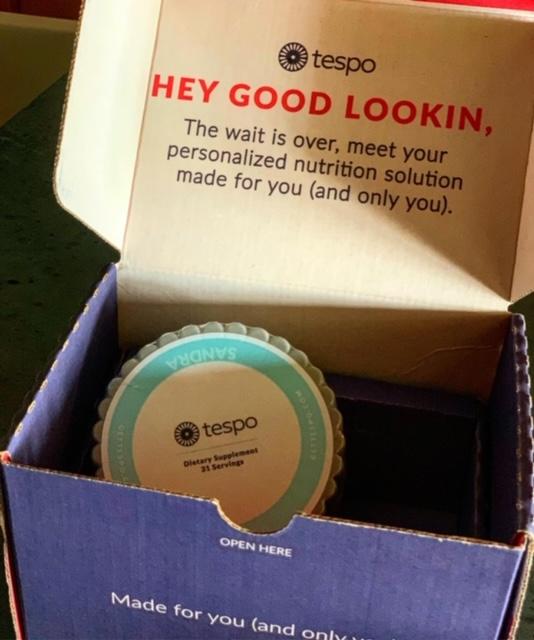 Hey Good Lookin'. TESPO Personalized Vitamin Pod