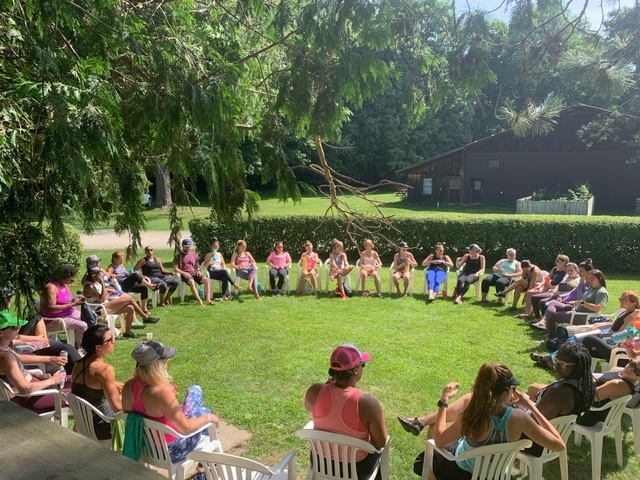 Closing Circle at Empower Summer Camp