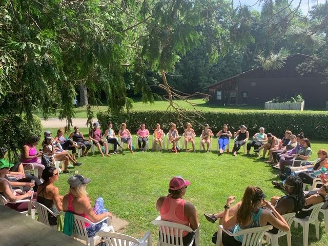 Closing Circle at Empower Summer Camp