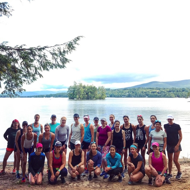 The Women at Rise. Run. Retreat with Lift Run Perform at Geneva Point Center on Lake Winnepesaukee in New Hampshire