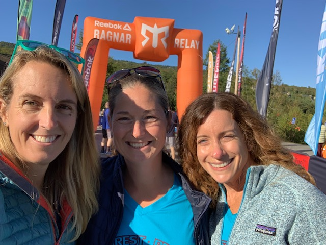 Hanging out with Becky and Hope at the Ragnar Relay Reach the Beach