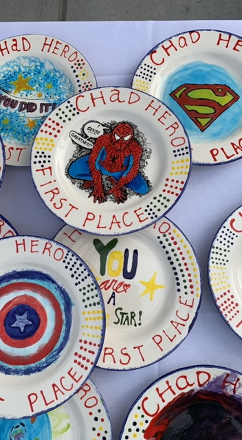 Coveted Finishers Prizes. Hand Painted Plates.
